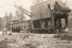 Early1940sviewoftraincraneloadingwoodalongrailroadgrade_28